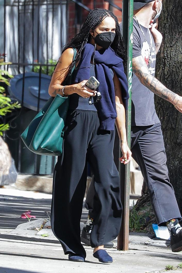 <p>Zoe Kravitz steps out in N.Y.C. on Sept. 7.</p>