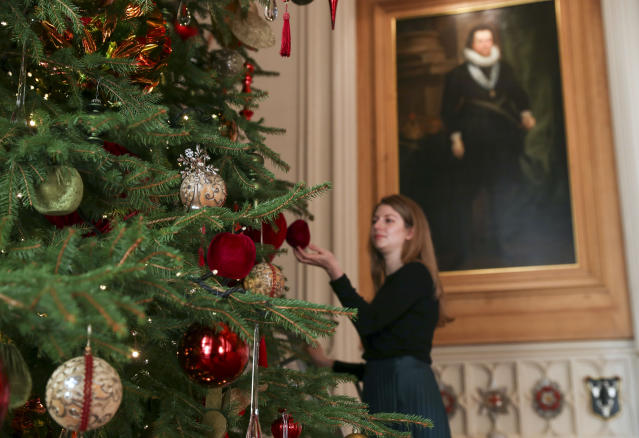 The royal family have put up Christmas trees since Queen Victoria's husband Prince Albert popularised the tradition in Britain [Image: PA Images]