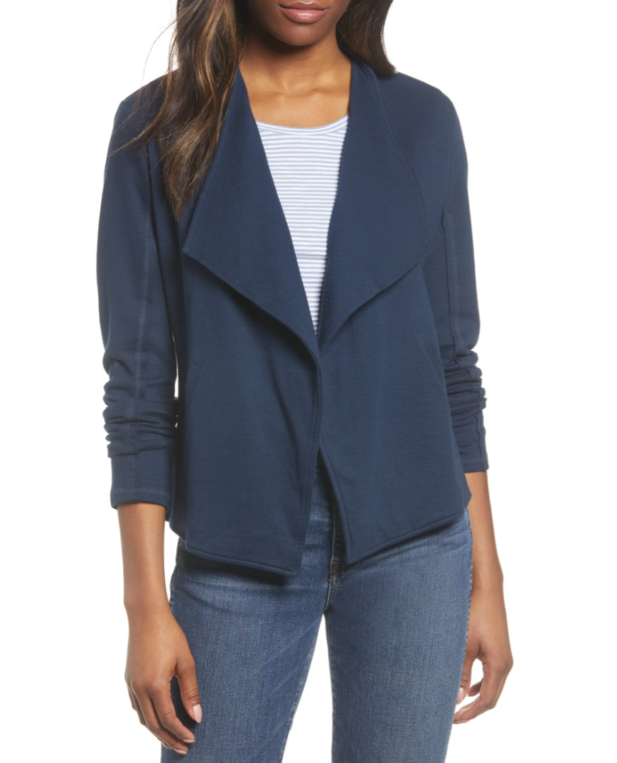 Drape Collar Knit Blazer available during the Nordstrom Made sale.