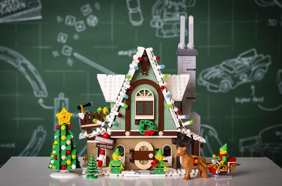 """<p>Kids will love whiling away an afternoon building this festive LEGO clubhouse. In the shape of a gingerbread house, it comes with 1197 bricks and heaps of seasonal details.</p><p>'LEGO is my favourite toy to play with and you can build so many things! I really like the reindeer and Christmas elves,' says five-year-old Siddie from the toy testing panel.</p><p><a class=""""link rapid-noclick-resp"""" href=""""https://go.redirectingat.com?id=127X1599956&url=https%3A%2F%2Fwww.johnlewis.com%2Flego-creator-10275-elf-club-house%2Fp5295851&sref=https%3A%2F%2Fwww.housebeautiful.com%2Fuk%2Flifestyle%2Fshopping%2Fg33979702%2Fjohn-lewis-christmas-toys%2F"""" rel=""""nofollow noopener"""" target=""""_blank"""" data-ylk=""""slk:BUY NOW, £84.99"""">BUY NOW, £84.99</a></p>"""