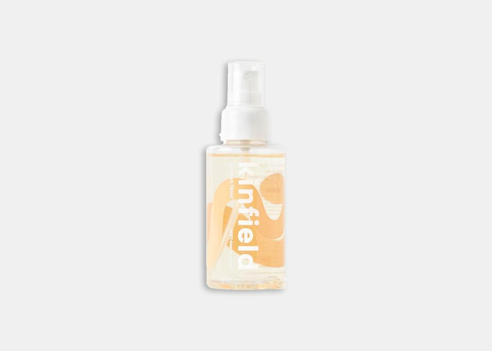 """Golden Hour's vanilla-citrus scent makes it a great option to throw in your bag if you don't want to overpower your senses on a picnic. According to Nichole Powell, the founder and CEO of Kinfield, the DEET-free spray—made with Indonesian citronella—has gone through <a href=""""https://kinfield.com/pages/faqs#goldenhour"""" rel=""""nofollow noopener"""" target=""""_blank"""" data-ylk=""""slk:two sets of double-blind lab trials"""" class=""""link rapid-noclick-resp"""">two sets of double-blind lab trials</a> and has been found to repel Aedes Aegypti mosquitoes, the yellow fever mosquito that transmits viruses such as yellow fever, dengue fever, and Zika fever. Powell recommends re-applying every two to four hours to ensure full protection. $22, Kinfield. <a href=""""https://kinfield.com/products/golden-hour"""" rel=""""nofollow noopener"""" target=""""_blank"""" data-ylk=""""slk:Get it now!"""" class=""""link rapid-noclick-resp"""">Get it now!</a>"""