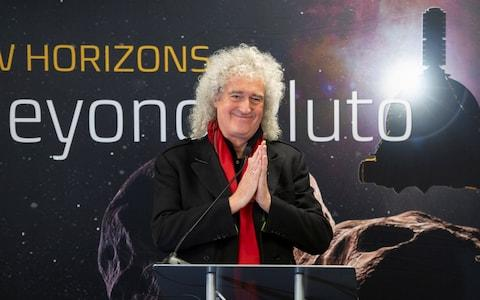 Brian May discusses the upcoming New Horizon's flyby of the Kuiper Belt object Ultima Thule - Credit: Reuters