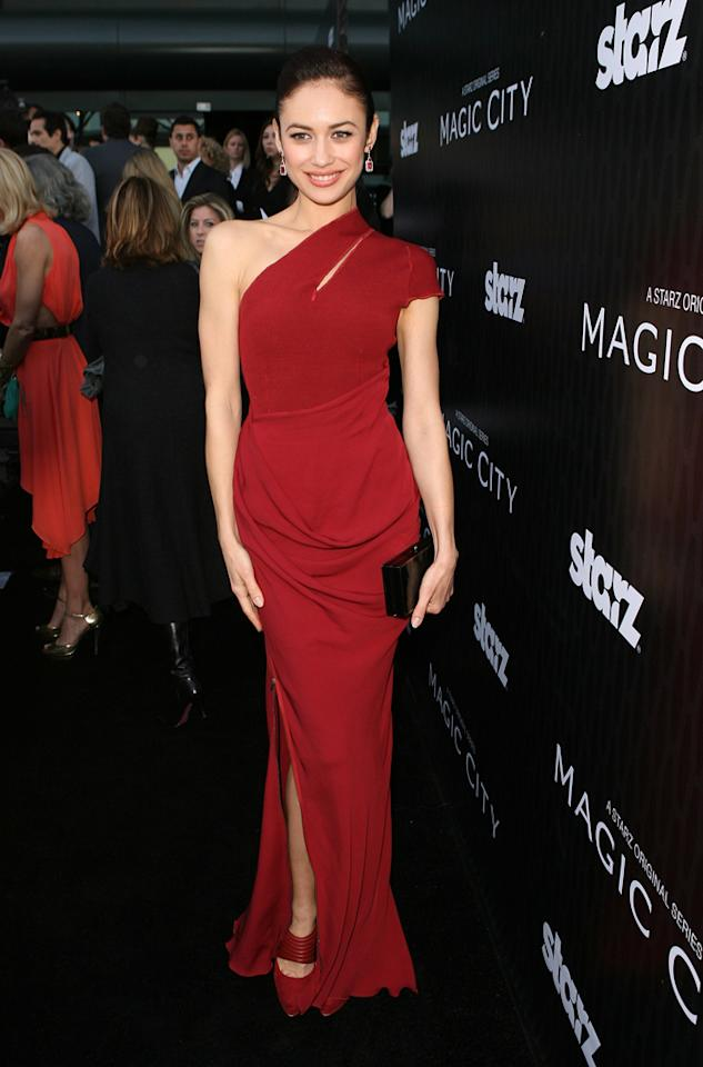"Olga Kurylenko attends the Starz '<a target=""_blank"" href=""http://tv.yahoo.com/magic-city/show/46996"">Magic City</a>' Los Angeles Series Premiere at Directors Guild Of America on March 20, 2012 in Los Angeles, California."
