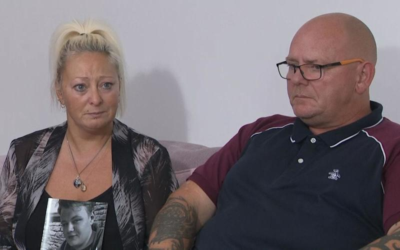 Charlotte Charles and Tim Dunn, the parents of Harry Dunn, who died on August 27