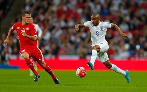 <span>Fabian Delph last played for England in 2015 but makes the squad after impressing for Manchester City's title-winners</span> <span>Credit: Reuters / Eddie Keogh </span>