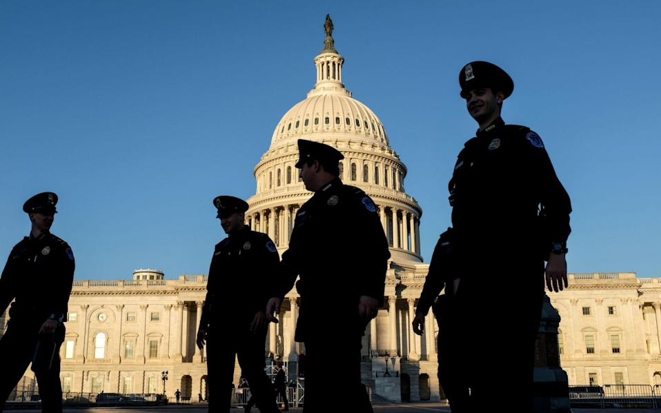 Police officers outside the US Capitol - Alex Wroblewski/Getty Images