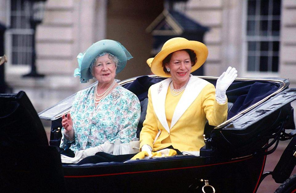<p>To celebrate Trooping The Colour, Margaret rode with the Queen Mother.</p>