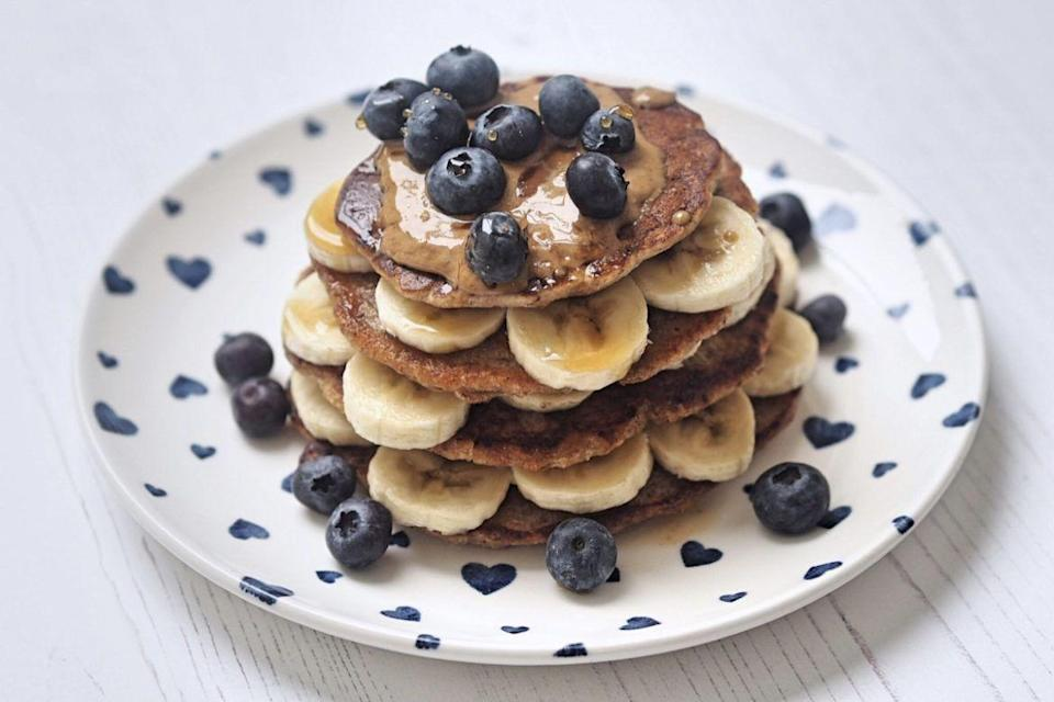 "<p>The Food Medic's pancakes are naturally high in protein thanks to the spelt flour and flaxseed. Plus, they're totally plant-based and vegan-friendly. Yum.</p><p><br>Try the recipe for yourself: <a class=""link rapid-noclick-resp"" href=""https://thefoodmedic.co.uk/2018/02/wholemeal-pancakes/"" rel=""nofollow noopener"" target=""_blank"" data-ylk=""slk:thefoodmedic.co.uk"">thefoodmedic.co.uk</a></p>"
