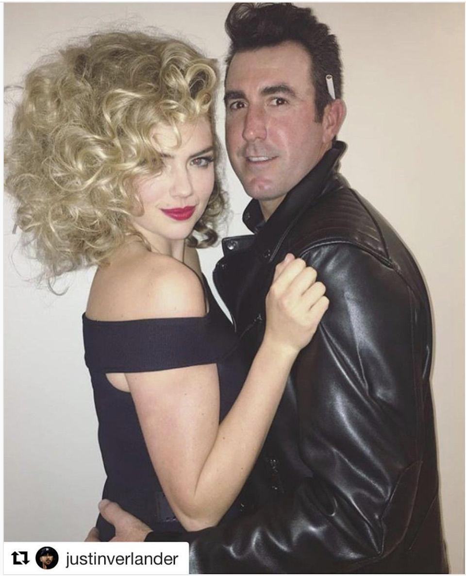 <p>What would Halloween be without an appearance by the famed <em>Grease </em>couple? Kate Upton and her man Justin Verlander stole looks from Olivia Newton-John and John Travolta's iconic Sandy and Danny characters. And let's be honest—they pulled this one off <em>well.</em></p>