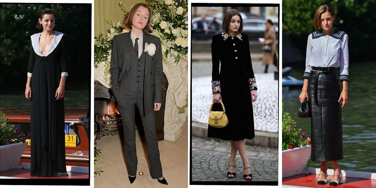 "<p>Fittingly, actress Emma Corin is about to play one of the best dressed women in history - <a href=""https://www.elle.com/uk/fashion/celebrity-style/articles/g10737/princess-diana-fashion-moments/"" target=""_blank"">Princess Diana</a> - in <a href=""https://www.elle.com/uk/life-and-culture/a30101259/the-crown-season-4/"" target=""_blank"">The Crown</a><a href=""https://www.elle.com/uk/life-and-culture/a30101259/the-crown-season-4/"" target=""_blank"">'s fourth season</a>. Corrin has been nailing her red carpet style since she strode into the public eye last year. From wearing Miu Miu at the <a href=""https://www.elle.com/uk/fashion/celebrity-style/g28853098/venice-film-festival-red-carpet/"" target=""_blank"">Venice Film Festival</a>, to Chanel at a premiere, Emma Corrin's style is undeniable. Here are the 24-year-old's most stylish moments...</p>"