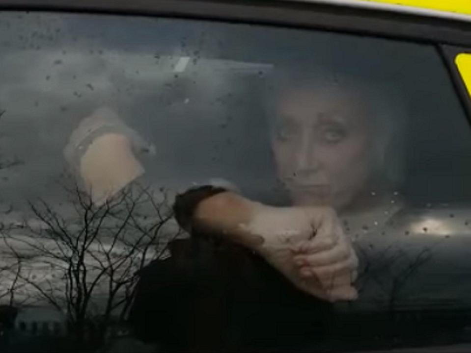Ex-Coronation Street actress Leandra Ashton filmed her mother being arrested after taking her grandmother out of a care home in East Yorkshire. (Leandra Ashton/Facebook/screen grab)
