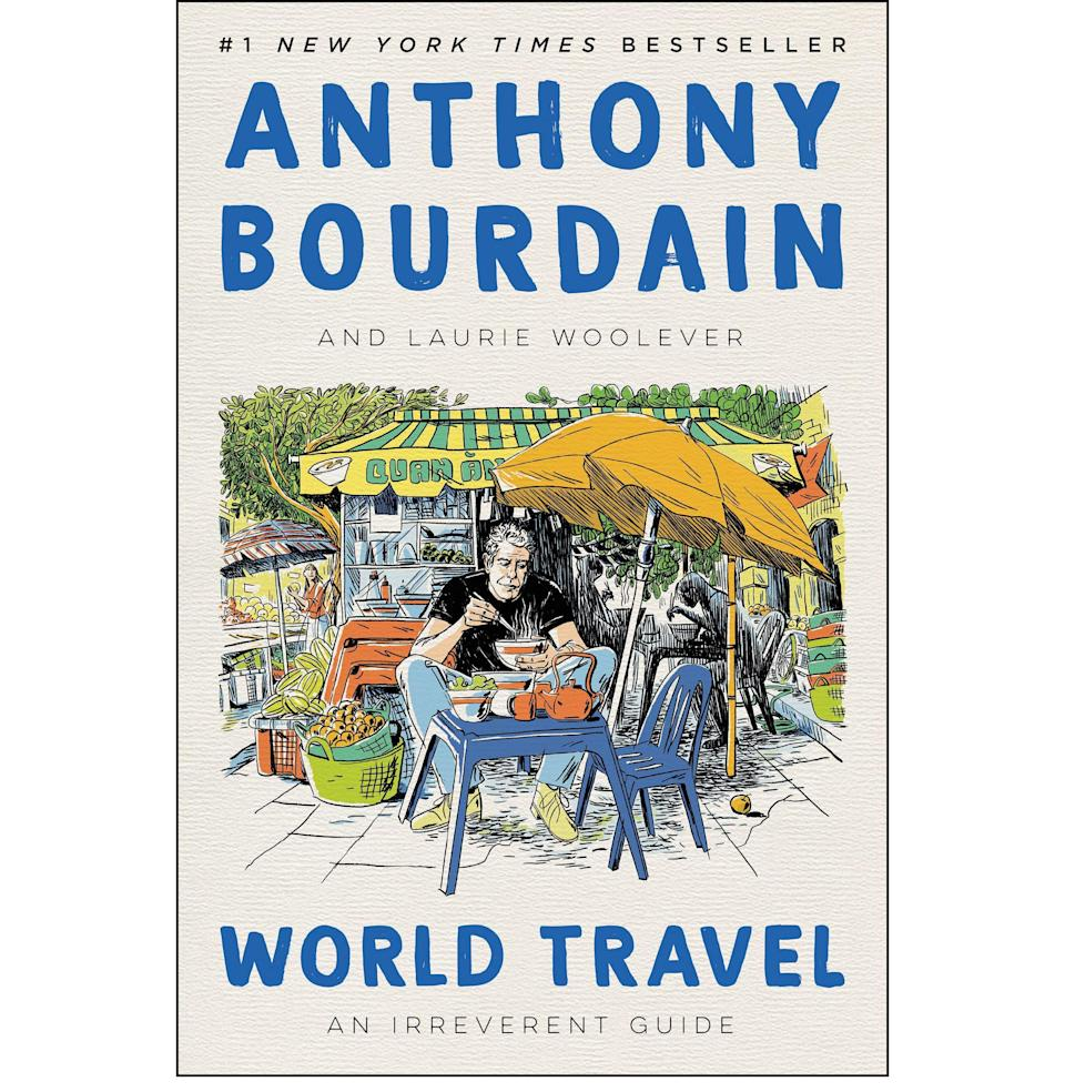 """<p><strong>By Anthony Bourdain and Laurie Woolever</strong></p><p>amazon.com</p><p><strong>$21.00</strong></p><p><a href=""""https://www.amazon.com/dp/0062802798?tag=syn-yahoo-20&ascsubtag=%5Bartid%7C10054.g.22141607%5Bsrc%7Cyahoo-us"""" rel=""""nofollow noopener"""" target=""""_blank"""" data-ylk=""""slk:Buy"""" class=""""link rapid-noclick-resp"""">Buy</a></p><p>If you've got a Bourdain acolyte on your hands, maybe one who was <a href=""""https://www.esquire.com/entertainment/movies/a37013643/roadrunner-anthony-bourdain-movie-review-morgan-neville-interview/"""" rel=""""nofollow noopener"""" target=""""_blank"""" data-ylk=""""slk:gutted by the recent documentary"""" class=""""link rapid-noclick-resp"""">gutted by the recent documentary</a>, then remind him of the good times with this <a href=""""https://www.esquire.com/lifestyle/a36148347/anthony-bourdain-world-travel-book-laurie-woolever-interview/"""" rel=""""nofollow noopener"""" target=""""_blank"""" data-ylk=""""slk:posthumous travel guide"""" class=""""link rapid-noclick-resp"""">posthumous travel guide</a> to every place in the world Bourdain marveled over.</p>"""