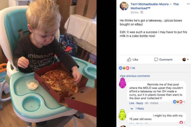 A mum has been applauded by parents of fussy eaters for devising a clever hack to encourage her son to eat his dinner.