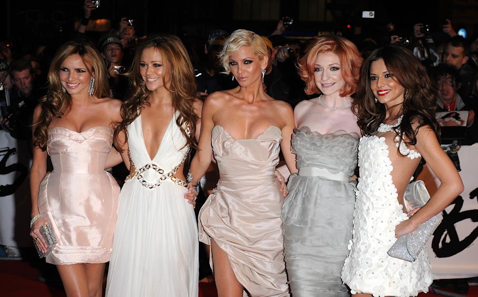 Girls Aloud arriving for the BRIT Awards, at Earls Court, central London, SW5.