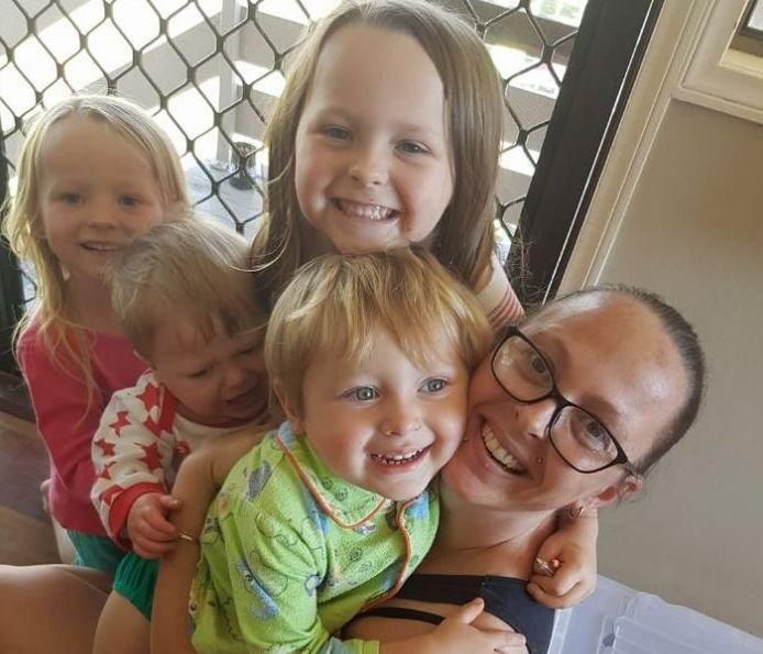 Charmaine Harris McLeod with her kids. All of them died following a head-on crash near Kumbia in Queensland's South Burnett Region on Monday. Source: Facebook