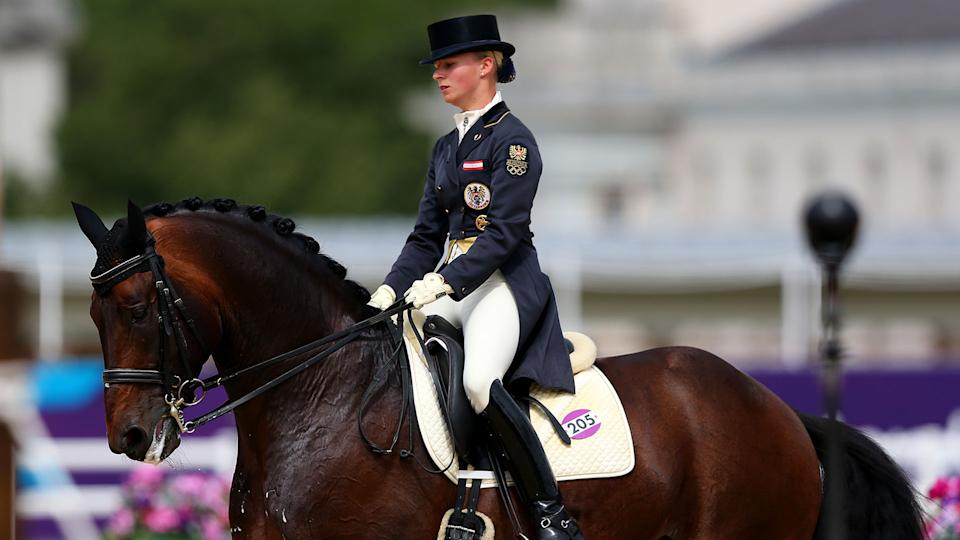 Victoria Max-Theurer's Olympic run came to an abrupt halt. (Photo by Alex Livesey/Getty Images)