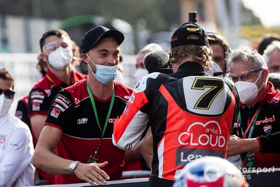 "Chaz Davies, Aruba.it Racing Ducati, mit Leon Camier<span class=""copyright"">Gold and Goose / Motorsport Images</span>"
