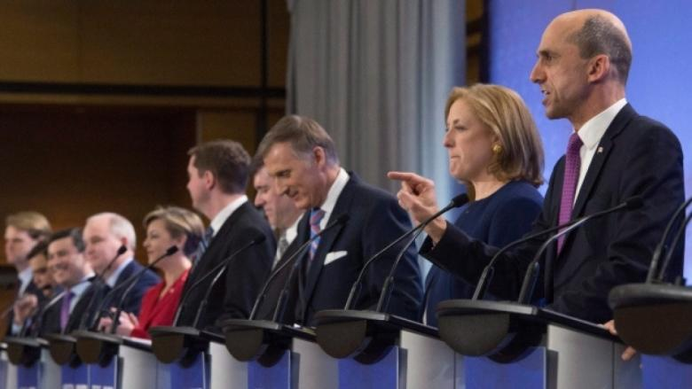 Conservative leadership hopefuls enter last debate before vote — without Kevin O'Leary