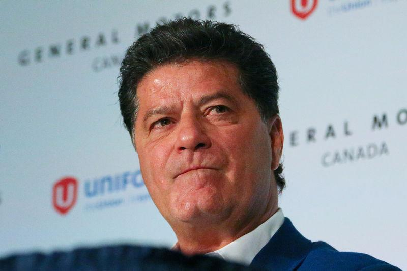 UNIFOR president Jerry Dias announces new plans for the Oshawa automobile manufacturing facility, in Toronto