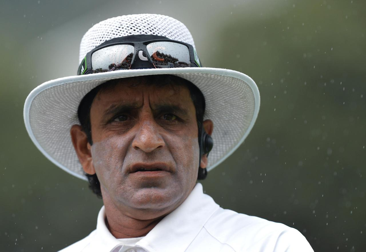 File photo dated 17/03/2013 of Umpire Asad Rauf.