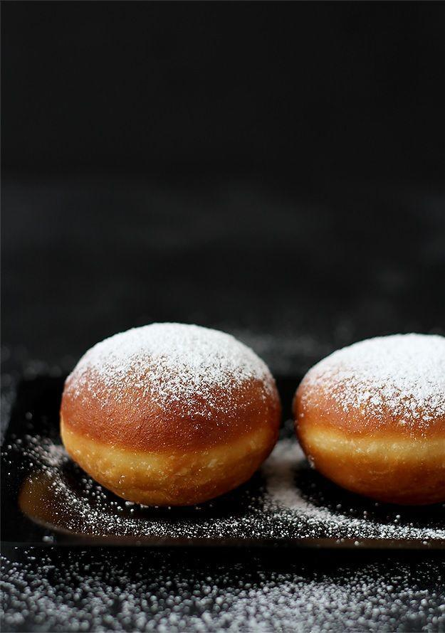 "<p>Austria's version of jelly donuts is known as <em>krapfen</em>. The light and fluffy treat is sometimes filled with vanilla custard; this one is filled with a spoonful of apricot jam. A couple of teaspoons of rum adds an extra pop of flavor.</p><p><em><a href=""https://www.lilvienna.com/krapfen-austrian-jam-filled-donuts/"" rel=""nofollow noopener"" target=""_blank"" data-ylk=""slk:Get the recipe for krapfen"" class=""link rapid-noclick-resp"">Get the recipe for krapfen </a></em></p>"