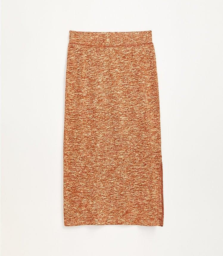 <p>This <span>Lou & Grey Autumn Marled Midi Skirt</span> ($60) is both comfy and cool.</p>