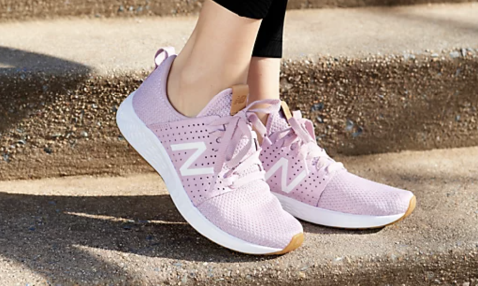 Cool comfort: You'll want to spend every day in these New Balance Fresh Foam Sport Lace-Up Sneakers. (Photo: QVC)