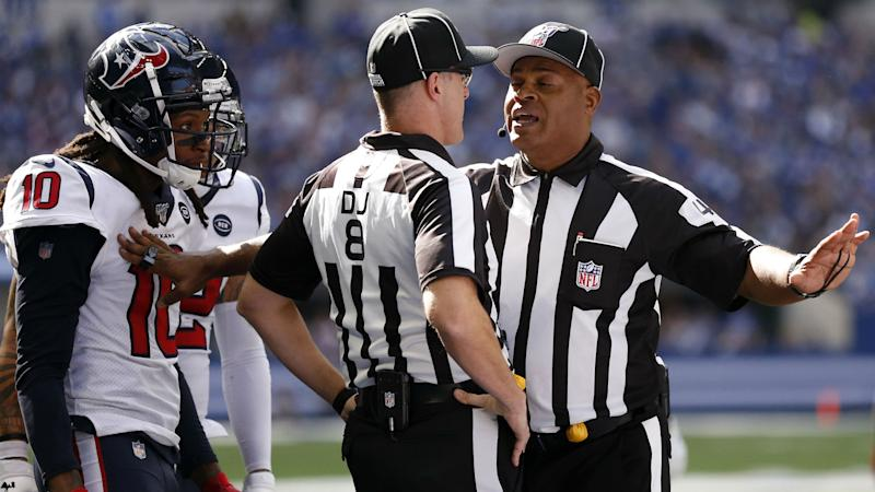 DeAndre Hopkins calls out NFL after badly missed pass interference call in Texans vs. Ravens