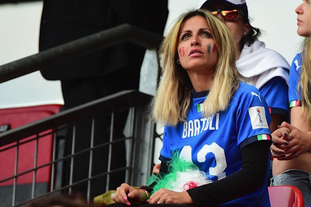 Fan of Italy with the jersey of Elisa Bartoli attends the 2019 FIFA Women's World Cup France group C match between Italy and Brazil at Stade du Hainaut on June 18, 2019 in Valenciennes, France. (Photo by Pier Marco Tacca/Getty Images)