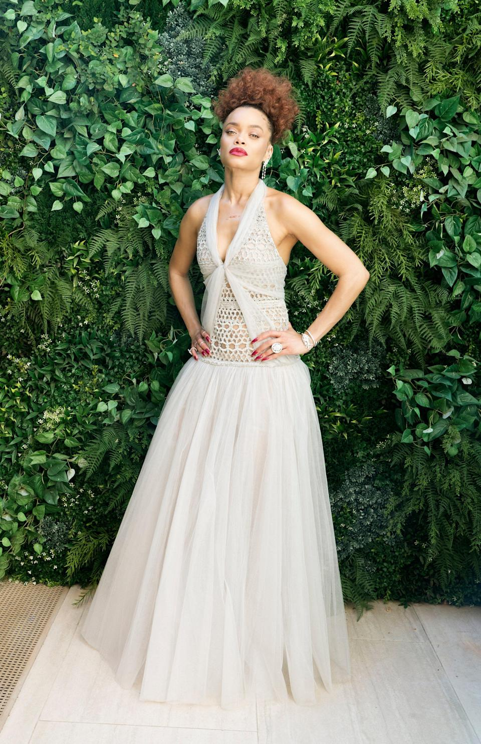 <p>Andra Day in a Chanel couture.</p>