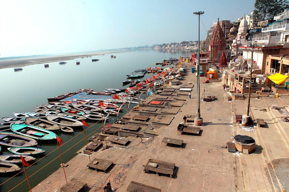 <p>File image: Three half burnt bodies were found on the banks of the river in Varanasi</p> (Getty Images)