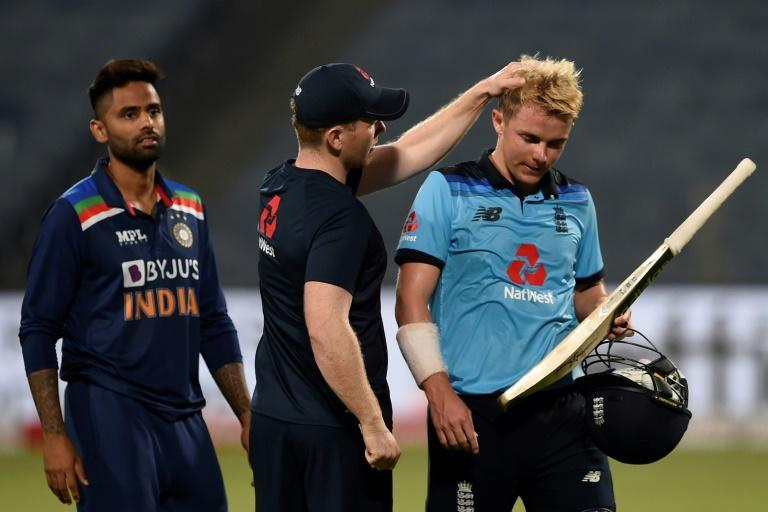 """England's Sam Curran (right) said he has """"a lot of confidence"""" going into the IPL season after his sucessful ODI series"""