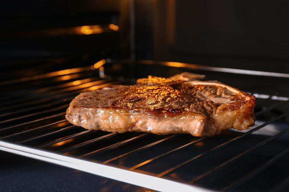 "<p>According to Bridget Wasser, executive director of meat science, culinary and supply chain at the National Cattlemen's Beef Association, tender steaks like strip, rib-eye and T-bone can be cooked with dry-heat methods including grilling and broiling. The <a href=""https://www.thedailymeal.com/cook/how-to-make-cheap-steak-tender-delicious?referrer=yahoo&category=beauty_food&include_utm=1&utm_medium=referral&utm_source=yahoo&utm_campaign=feed"" rel=""nofollow noopener"" target=""_blank"" data-ylk=""slk:best way to cook less tender steaks"" class=""link rapid-noclick-resp"">best way to cook less tender steaks</a> like flank, skirt, round and chuck is by using moist-heat cooking methods like braising or slow-cooking to elevate tenderness. Or, they can be cooked with dry-heat methods, like grilling, if tenderizing marinades are applied prior to cooking.</p>"