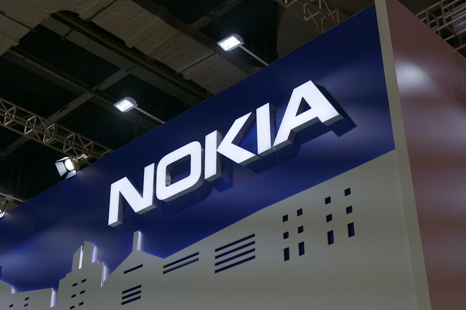 The Nokia booth at the 3rd China International Import Expo at the National Exhibition and Convention Center on 7 November 2020 in Shanghai, China. Photo: VCG/VCG via Getty Images