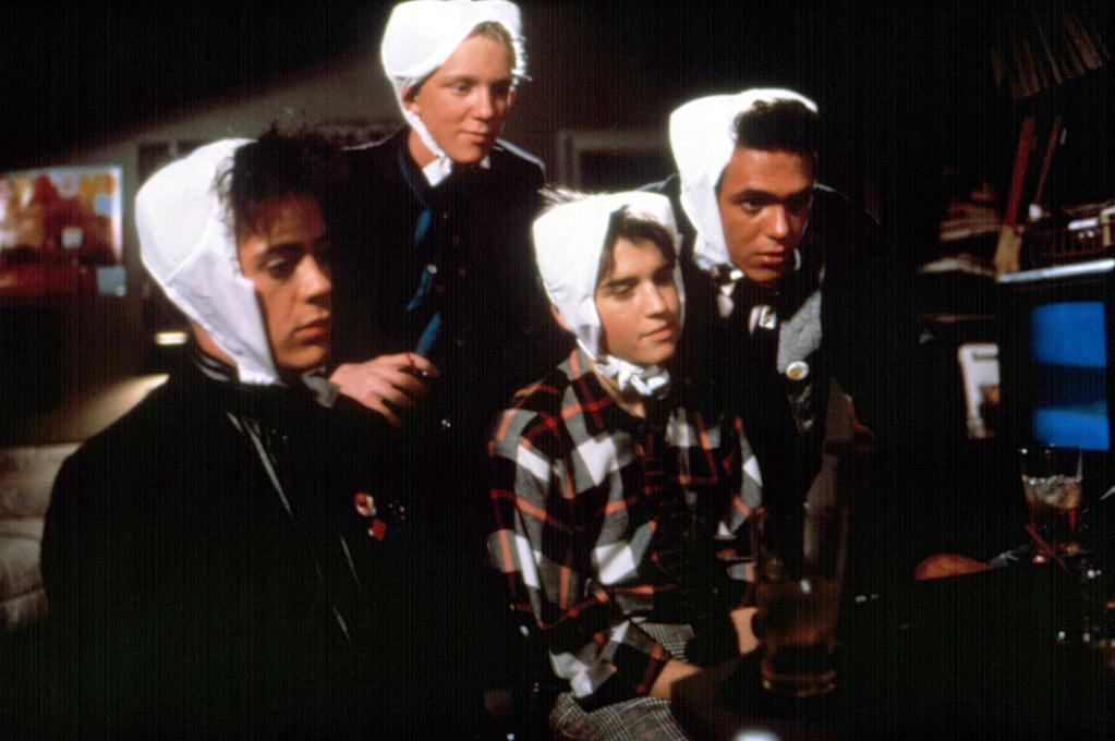 """High: <a href=""""http://movies.yahoo.com/movie/1800134328/info"""">WEIRD SCIENCE</a> (1985)   Robert Downey Jr. appeared in one of his father's films when he was five years old, but it was with this John Hughes movie that he started getting some Hollywood traction. Though he might have only been on the screen for a short time, his appearance was memorable. What better way is there to start on the road to fame than to wear a bra on your head?"""