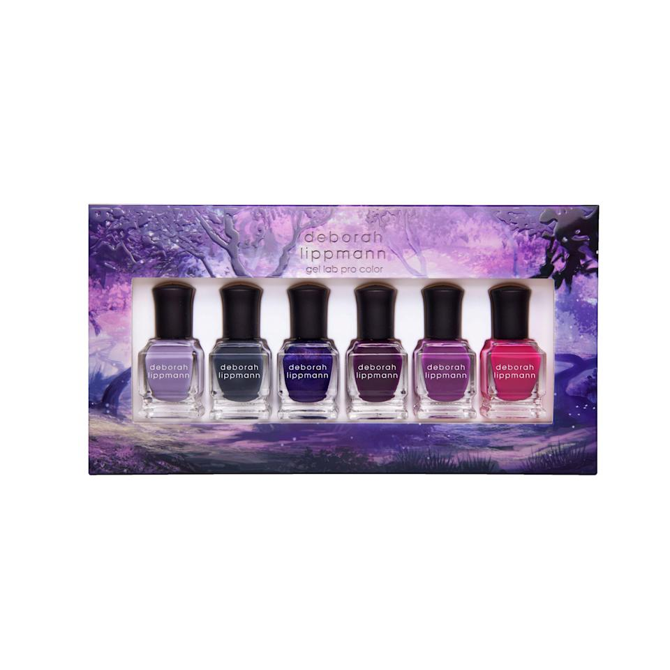 "<p>A collection of six purple polishes (heather crème, dusty blue-gray crème, blue-violet with holographic shimmer, eggplant crème, magenta crème, and light fuchsia crème) in mini bottles is ready to ensure your fall mani is on point.</p> <p>Buy: $36; <a href=""https://click.linksynergy.com/deeplink?id=93xLBvPhAeE&mid=2417&murl=https%3A%2F%2Fwww.sephora.com%2Fproduct%2Fnatural-mystic-6-piece-set-P447738&u1=SL%2CRX_1908AugustBeautyLaunches_DeborahLippmannNaturalMystic6-PieceSet%2Cpshannon1271%2C%2CIMA%2C632993%2C201908%2CI"" rel=""nofollow noopener"" target=""_blank"" data-ylk=""slk:sephora.com"" class=""link rapid-noclick-resp"">sephora.com</a></p>"