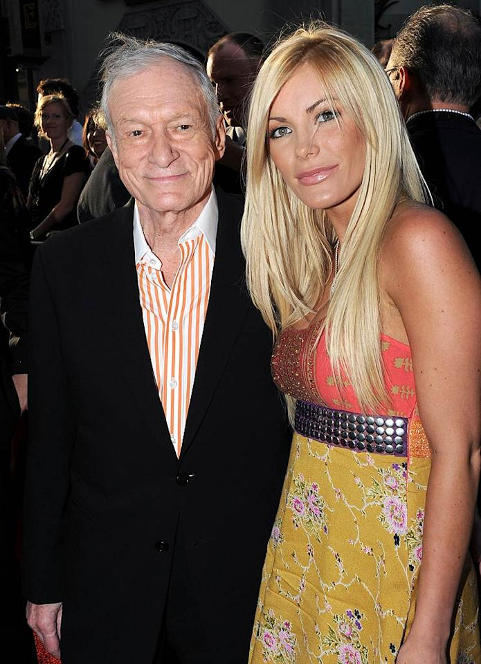 """After having saved the iconic Hollywood sign earlier in the day, Hugh Hefner and his current girlfriend Crystal Harris made the scene at the star-studded movie premiere. Kevin Winter/<a href=""""http://www.gettyimages.com/"""" target=""""new"""">GettyImages.com</a> - April 26, 2010"""