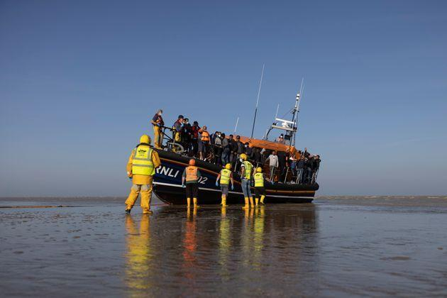 Migrants arriving into Dungeness (Photo: Dan Kitwood via Getty Images)