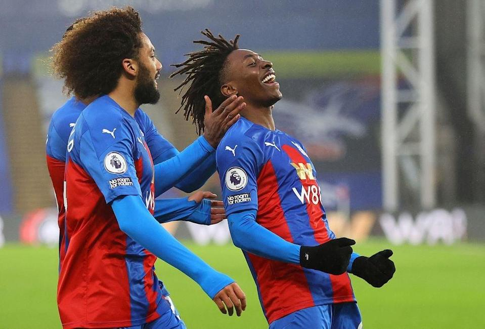 Eze celebrates for Crystal Palace (POOL/AFP via Getty Images)