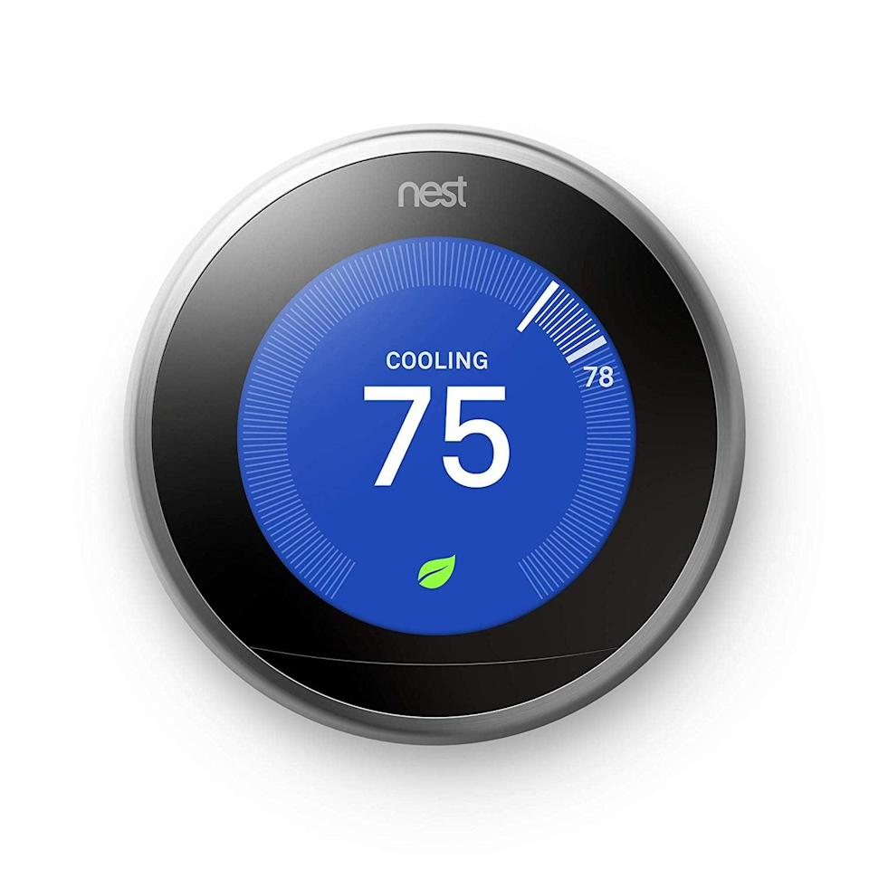 <p>No more temperature wars thanks to this <span>Nest Learning Thermostat</span> ($199, originally $249), which actually learns what temperature you prefer and then sets automatically.</p>