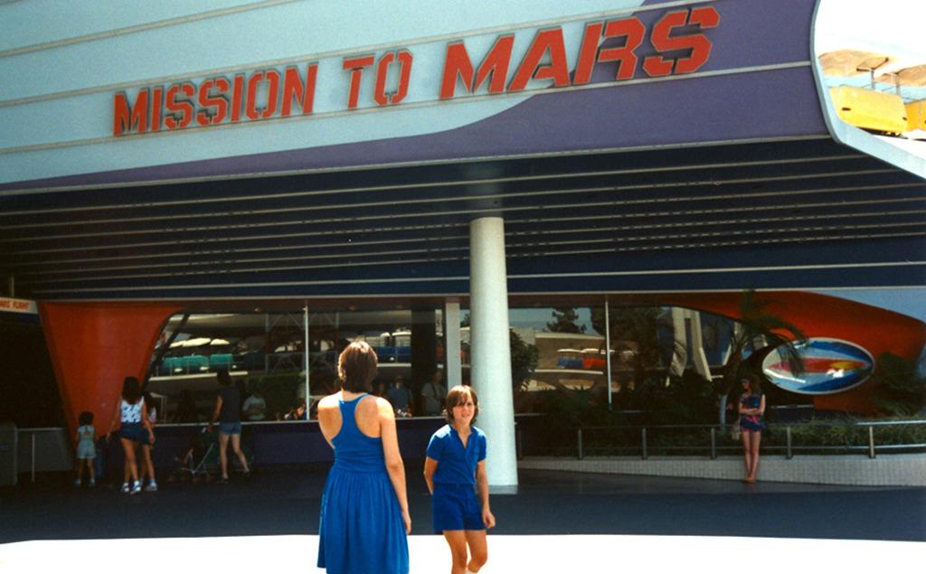 """<p>This Disneyland attraction had three lives during its four-decade existence. Debuted as Rocket to the Moon in 1955, it was rechristened Flight to the Moon in 1967, two years before Neil Armstrong took one small step for man. The Imagineers then teamed up with NASA for a Mars-themed revamp. Visitors enlisted for a Mission to Mars from 1975 until the early '90s, when it was permanently grounded.<i><a href=""""https://flic.kr/p/FDwJJ"""">(Photo: ATIS547/Flickr)</a></i></p>"""