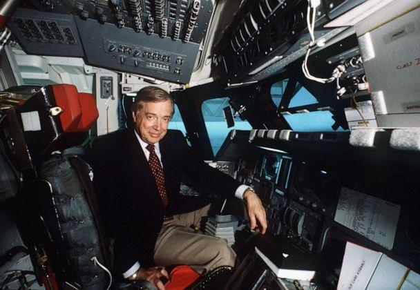 PHOTO: Hugh Downs is seen in a space shuttle cockpit on April, 20, 1981. (Joe Mcnally/ABC)