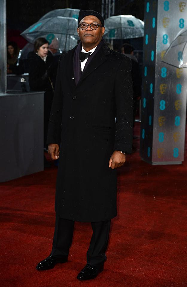 Samuel L. Jackson attends the EE British Academy Film Awards at The Royal Opera House on February 10, 2013 in London, England.  (Photo by Ian Gavan/Getty Images)