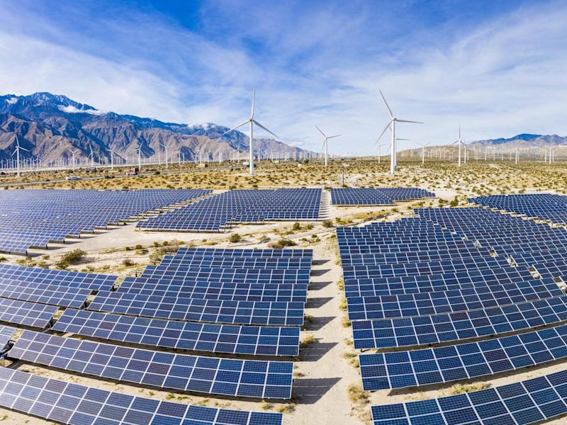 Solar panels and wind turbines are on the up, but coal usage must fall by 13 per cent around the world each year if we are to have a hope of hitting the targets of the Paris climate agreement, scientists say: Getty