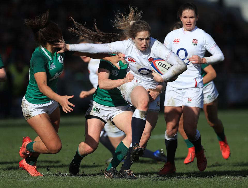 England in action against Ireland in the 2020 tournament (PA)