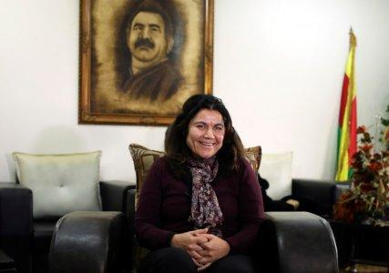 Fawza Youssef, a senior Syrian Kurdish politician is pictured at her office in Qamishli, Syria January 15, 2018. REUTERS/Rodi Said