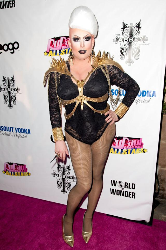 """Mimi Imfurst arrives at the """"RuPaul's Drag Race: All Stars"""" Premiere Party at The Abbey on October 16, 2012 in West Hollywood, California."""