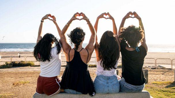 PHOTO: A group of women make heart hands in this stock photo. (STOCK PHOTO/Getty Images)