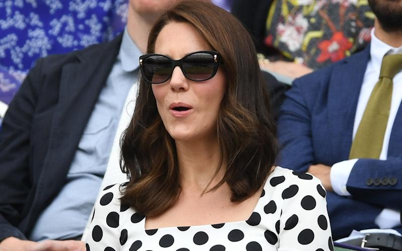 The Duchess of Cambridge debuted her new hairstyle during a visit to Wimbledon - Credit: Heathcliff O'Malley for The Telegraph