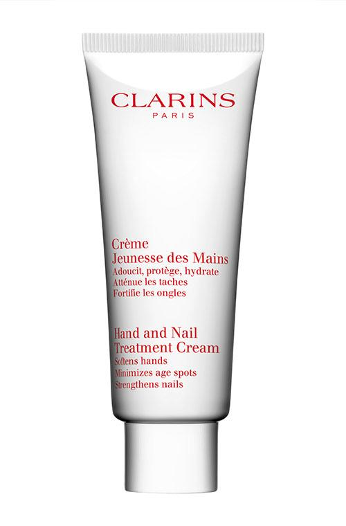 Clarins was awarded a Royal warrant of appointment by HM The Queen in 2007 as 'manufacturers of skin care and cosmetics'. The Queen herself is a fan of the  Hand and Nail Treatment Cream, $38, a best seller since 1979.